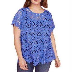 Lane Bryant blue lace top NWT sz 4x 26